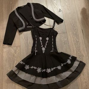 Corset dress with bolero
